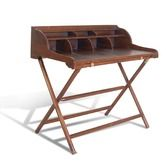 Found it at Wayfair.co.uk - Campaign Teak and Leather Writing Desk with Rack ukp 232
