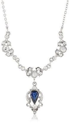 """Downton Abbey """"Jeweled Heirlooms Boxed"""" Silver Tone Montana Blue Sapphire Belle Epoch Drop Pendant Necklace, 16"""" Downton Abbey http://smile.amazon.com/dp/B00EL3J3QO/ref=cm_sw_r_pi_dp_-qwaub0QNYR8W"""