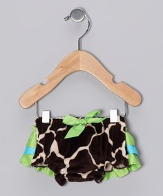 Take a look at this Green & Blue Giraffe Bloomers - Infant by Mud Pie on #zulily today!