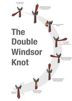 Popular ways to tie a necktie double windsor double windsor tie how to tie a double windsor knot need to know this for stock ties ccuart Choice Image