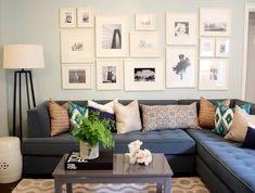 using a leather sofa in a coastal interior design scheme - Google Search