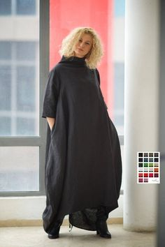 Black Maxi Dress Plus Size Clothing Linen Dress Gothic Plus Size Maternity Dresses, Dress Plus Size, Plus Size Outfits, Maternity Clothing, Tienda Fashion, Mode Mantel, Cute Lazy Outfits, Plus Size Pregnancy, Plus Size Kleidung