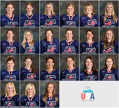 USA Women's hockey team that are going to Sochi