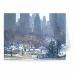 Winter in Central Park, New York, 1997 (oil.. - Greeting Card (Pack of 2) - 7x5 inch - Art247 - Standard Size - Pack Of 2 by Art247. $6.50. This photographic Greeting Card is created on 300gsm FSC approved card. The result - a stunning reproduction at an affordable price. Actual size 7x5 inch.Greeting card comes with high grade white envelope as standard.This is an automated preview only. Actual Greeting Card design may vary. All products are hand finished by our...