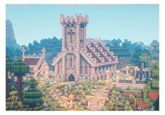 Minecraft Kingdom, Art Minecraft, Minecraft Structures, Minecraft Pictures, Cute Minecraft Houses, Minecraft Plans, Minecraft House Designs, Minecraft Survival, Minecraft Decorations