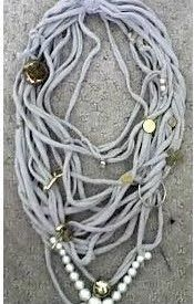 frangipani designs: recycled t shirt necklaces!