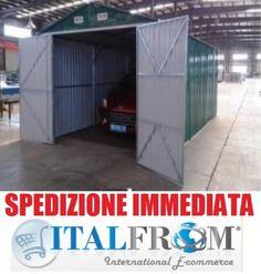 BOX CASETTA CASETTE RIMESSA RIPOSTIGLIO GARAGE AUTO GIARDINO LAMIERA ZINCATA 5x3
