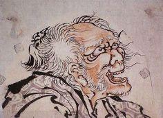 葛飾北斎の自画像ー「画狂老人卍」(がきょうろうじん まんじ): Hokusai Katsushika-Self-portrait「Gakyou Roujinn Mannji」