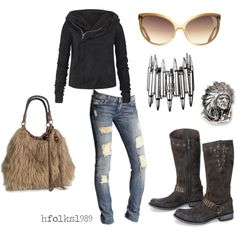 Wild Horse Saloon; Motorcycle Mama., created by hfolks1989 on Polyvore
