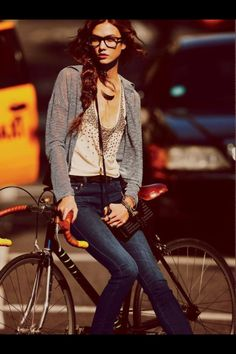 road bike + glasses.. so nerdy its hot