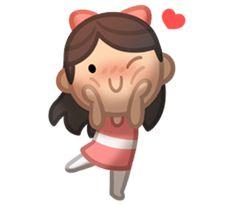 HJ-Story: Us Together - Creators' Stickers Hj Story, Cute Love Stories, Love Story, Cute Love Cartoons, Line Friends, Love Stickers, Cute Comics, Cute Little Things, Cute Chibi