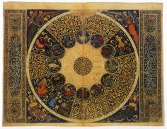 'The heavens as they were on April 25, 1384' by the Persian polymath Mahmud ibn Yahya ibn al-Hasan al-Kashi (completed between 1410 - 11 C.E.)