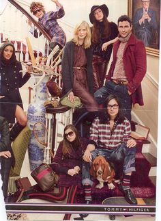 Can you spot the Sock Dreams socks in this Tommy Hilfiger ad? The photo reminds us a lot of the Royal Tenenbaums!