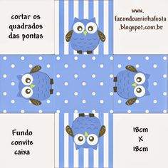 Blue Owl: Free Printable Boxes. | Oh My Fiesta! in english