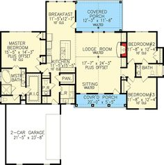 plan 25630ge one story farmhouse plan farmhouse plans square feet and house - One Story Farmhouse Plans
