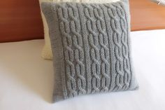 Knitting Patterns Pillow Knitted pillow cover gray charcoal knit pillow by Adorablewares Grey Pillow Covers, Grey Throw Pillows, Rustic Pillows, Decorative Pillows, Cushion Covers, Crochet Pillow Cases, Knit Pillow, Throw Pillow Cases, Pillow Shams