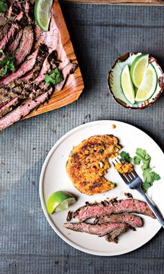 Honey adds a contrasting sweetness to the charred tender beef suffused with ginger, lime, and garlic, which can be marinated anywhere from 30 minutes to overnight.