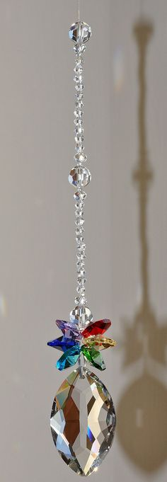 50 mm Fancy Crystal Suncatcher Diamond Chakra Pendant Prism Element, Decoration sparkling gift idea fengshui anniversary birthday rainbows