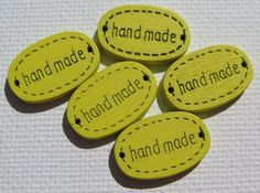 Wood Buttons  Oval Buttons  5 pieces  19x12mm  by HazalsBazaar, $2.00