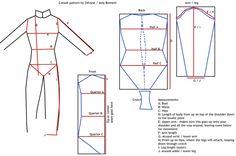 Catsuit sewing pattern by Zelvyne.deviantart.com on @deviantART