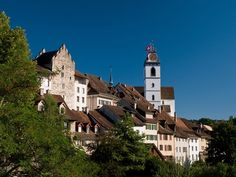 view to Aarau, northeast of Olten Swiss Design, Beaux Villages, Belle Villa, Swiss Alps, Continents, Places Ive Been, Places To Visit, Castle, Around The Worlds
