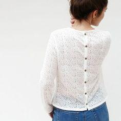 patron de couture femme Capucine - la blouse boutonnée dans le dos