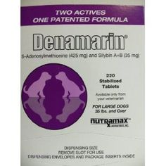 60 Tablets NutraMax Denamarin Tabs for Large Dogs 35 lbs and over