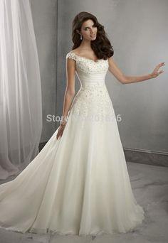 romantic wedding dress simple - Google Search