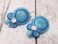 Amazonite & Keshi Pearl Earrings, Soutache Earrings, Gemstone Earrings, Gifts For Her, Pearl Earrings, Pearl Jewelry, Blue Earrings by zencreations04 on Etsy