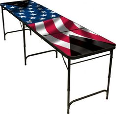 Red Cup Pong American Flag Beer Pong Table, Premium HD Design, Includes Bottle Opener, Ball Rack and 6 Pong Balls, Multicolor Hd Design, Flag Design, Multi Game Table, Melamine Cabinets, Simple Dining Table, House Furniture Design, Table Furniture, Office Furniture, Beer Pong Tables