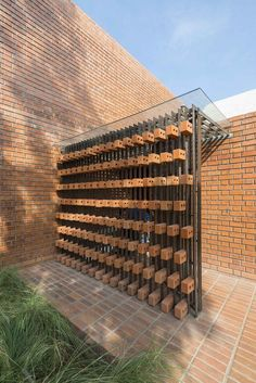 Image 11 of 26 from gallery of Brick House / Architecture Paradigm. Photograph by Anand Jaju Design Exterior, Brick Design, Facade Design, House Design, Brick Architecture, Architecture Details, Landscape Architecture, India Architecture, Building Facade