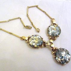 Coro Confetti Art Deco Retro Star Necklace 1960s Vintage Jewelry
