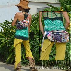 handmadeパッチワークHippieバッグ - ★naturaleeza★-遊び着いっぱい◎ヒッピー・エスニック・レイブファッション-