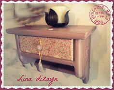 repisa un cajón vintage, técnica decoupage. por: lina dizayn