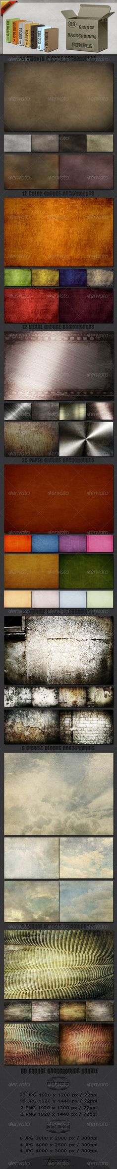 Creative Graphic Resources : 89 Grunge Backgrounds Bundle | GraphicRiver