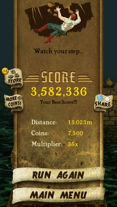 My best Temple Run Score!