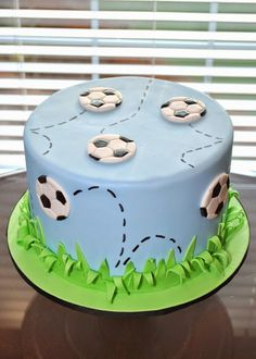 This entire post is dedicated to all of the fun sports cakes I have made over the past few years. My absolute favorite is this incredible. Football Birthday Cake, 13 Birthday Cake, Easy Cake Decorating, Birthday Cake Decorating, Football Cakes For Boys, Soccer Cakes, Cake Story, Sport Cakes, Star Wars Cake