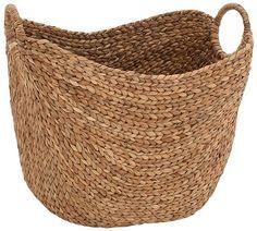Willow Seagrass Basket - Wicker Baskets - Storage Baskets - Baskets - Wicker Storage Baskets - Decorative Basket   HomeDecorators.com