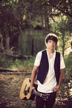 senior picture ideas for guys with guitar | ... photo shoot today w/ my nephew and his guitar - I love this shot