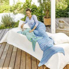 Meerjungfrauen-Decke für Mama und Kind - Strickanleitungen bei Makerist