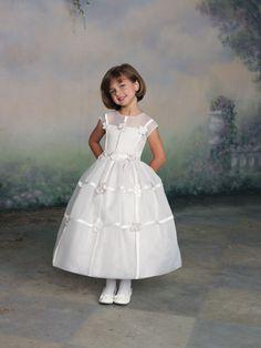Ball gown short sleeve organza dress for flower girl