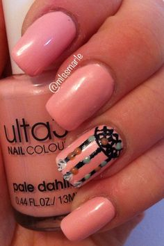Baby pink with a touch of tribal.