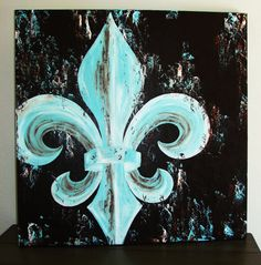 fleur de lis paintings on canvas