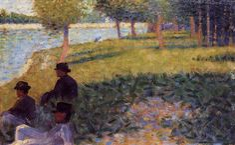 Three Men Seated - Georges Seurat