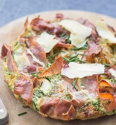Cheese, Herb, Prosciutto Frittata – Stasty