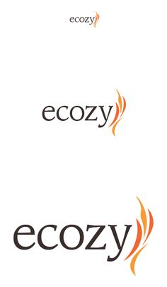 Ecozy Hotel Logo Final Design. Converted to pantone and made the text a dark, ash gray. Looks good printed out on my Inkjet, so just have to see how it turns out on a laserprint.