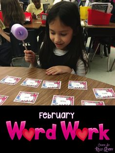 February Word Work Activities Daily 5 Work on Words    This resource would make a SWEET addition to your February Word Work Center!  #teachersfollowteachers #teacherspayteachers #tpt #iteachtoo #iteachreading #education #learning #homeschooling #homeschooled #teachers