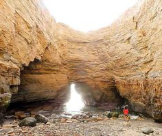 There are a few different ways to explore sea caves in San Diego. You can kayak to them, of course, but there are also some that you can access by land — including a couple of hidden / secret ones that you can get to *at your own risk. San Diego Vacation, San Diego Travel, San Diego Trip, San Diego Tours, San Diego Food, Places To Travel, Places To See, Travel Stuff, Travel Destinations