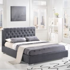 - Info - Colors - Dimensions Create a sense of minimalism where it didn't seem possible with this contemporary twist on the classic tufted style. Typically a sign of flamboyance, the deep tufted butto                                                                                                                                                                                 More
