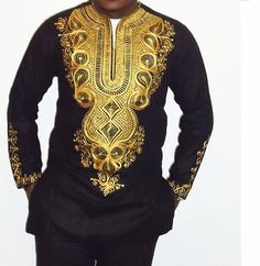 Chemise homme Nkrumah en spécial Occasion broderie africaine
